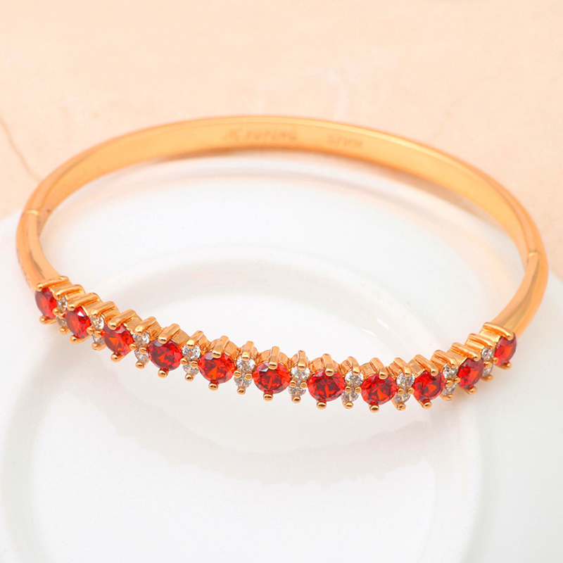 Beautiful Bangles jewerly Hot selling Red Garnet Crystal ladies ...