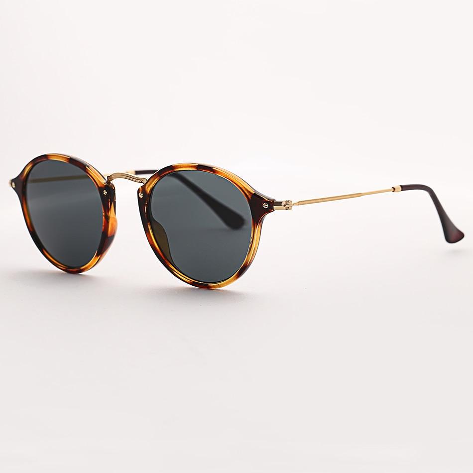 9358f1743 Bolo.ban round fleck polarized sunglasses women men 49mm glass lens mirror  tortoise sun glasses oculos de sol Gafas UV400-in Sunglasses from Apparel  ...