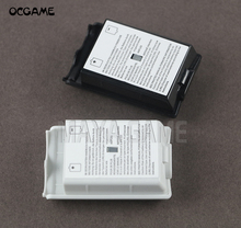 OCGAME 300 unids/lote negro blanco AA batería carcasa trasera protectora funda, piezas de soporte para xbox360 Xbox 360 controlador inalámbrico