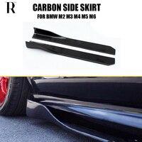 105cm Length Carbon Fiber Side Bumper Extension Skirt for BMW F87 M2 E90 E92 E93 F80 M3 F82 F83 M4 F10 M5 F12 F13 F06 M6