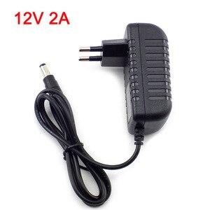 Image 1 - Gakaki 12 v 2a 2000ma eua ue plug 100 240 v ac para dc adaptador de alimentação fonte carregador adaptador de carregamento para led strip lâmpada interruptor