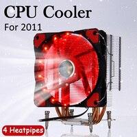 4 Heat Pipes CPU Cooler for Intel LGA 2011 with 120mm Fan Cooling CPU RGB Fan Cooling Cooler PC Quiet Radiator Heatsink