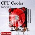 4 tubos de calor CPU enfriador para Intel LGA 2011 con ventilador de 120mm CPU RGB ventilador enfriador de refrigeración PC tranquilo radiador disipador de calor