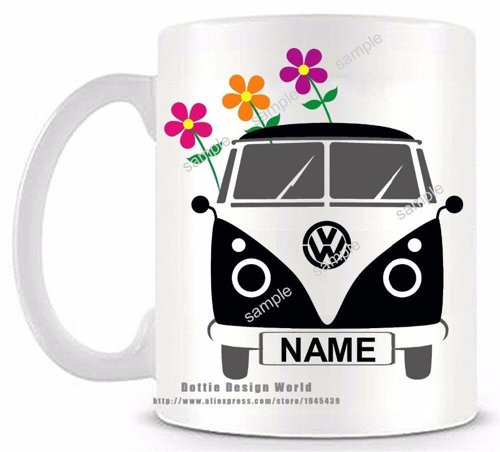 Tazze Da Te Personalizzate us $11.59 42% di sconto|new fai da te personalizzato nero camper van di  ceramica bianco di caffè tazza di tè divertente della novità tazza di  viaggio