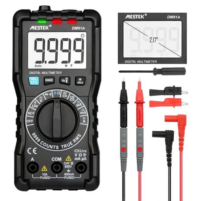 MESTEK DM91A мини-мультиметр Цифровой мультиметр 9999 отсчетов Авто измеритель дальности multimetre мультиметра multitester