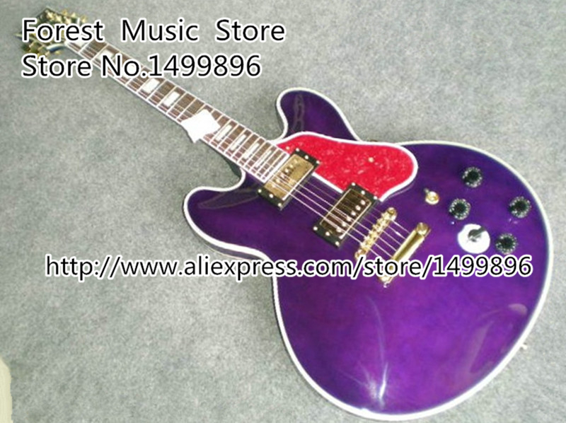 Top Selling Purple Classical Lucille 65th Birthday B.B. King Sinature ES Binding Body Guitars China Lefty Available hot selling randy rhoads signature yellow lp electric guitars with ebony fretboard left handed available