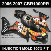 7gifts ABS motorcycle Injection Fairings kits for HONDA 06 07 CBR1000RR 2006 2007 CBR 1000RR fireblade Rossi repsol fairing kits