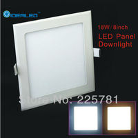 Free Shipping 18W Square Led Panel Light 2pcs Lot New Ultra Thin Downlight L230 W230mm AC90