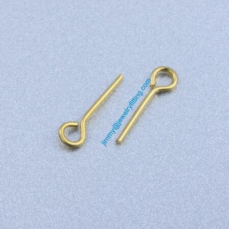 Ювелирных Изделий выводы Глаз Медными Штырьками Pins; Шарф Pins выводы 0.7*12 мм