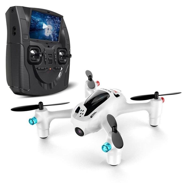 Nouveau Drone professionnel Hubsan X4 H107D + 2.4 GHz 4CH 6 axes 5.8G RTF RC FPV quadrirotor avec caméra HD 720 P