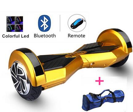 2 Wheel Self Balance Electric Scooters 8 inch Hoverboard Bluetooth uland Lights Key Air Sky Walker Board Hooverboard  -  Cute Technology CO LTD store