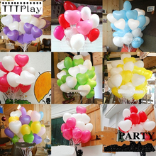 100pcs/lot 10inch Romantic Love Heart Latex Balloon Inflatable Air Ball Wedding Party Decoration Balloon Birthday Party Supplies