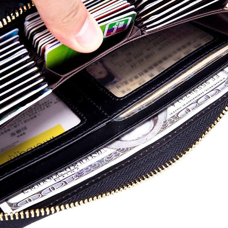 Rfid 36 Carte Slots Véritable En Cuir Détenteurs de Cartes Des Femmes de Grande Capacité Carte de Crédit Titulaire Portefeuille Femelle Porte-Cartes Sac - 5