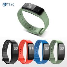 Teyo умный Браслет C1 крови Давление сна монитор сердечного ритма Шагомер удаленной Камера Водонепроницаемый IP67 smartband для iOS и Android