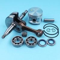 50mm Piston Crankshaft Ball Bearings Oil Seals Kit For Husqvarna 372 365 371 362 Chainsaw Needle Bearing Pin/Finger Circlip