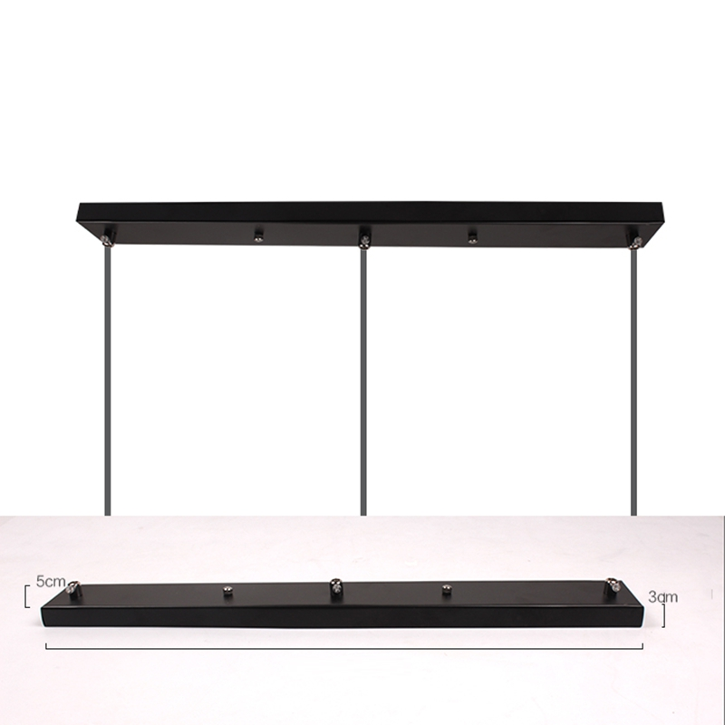 LukLoy Pendant Lamp Accessory, Long / Round Ceiling Mounted Plate Canopy , Customize for Pendant lights