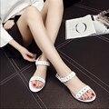 2017 European Flat Sandals PVC Women Summer Beach Shoes Fashion Sandals Shoes Woman Flat Sandals Slippers OR876390
