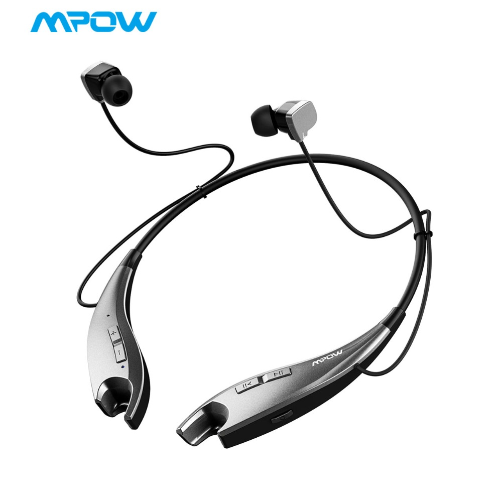 2018 NEW Mpow Jaws Earphone Wireless Bluetooth Headphone Leher Gaya Halter Earbuds Earphone Bebas-Call Calling untuk iPhone X / 8/7
