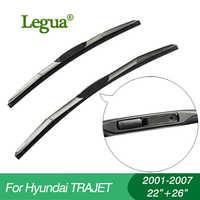 """Legua tergicristallo per Hyundai TRAJET (2001-2007), 22 """"+ 26"""", auto tergicristallo, 3 Sezione di Gomma, parabrezza tergicristallo, tergicristallo, accessori auto"""