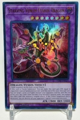 Yu Gi Oh Game Card LEDD-ENC25 UR Hungry Poisonous Dragon Super Fusion Restricted Dark Attribute Yugioh Game Card Collection