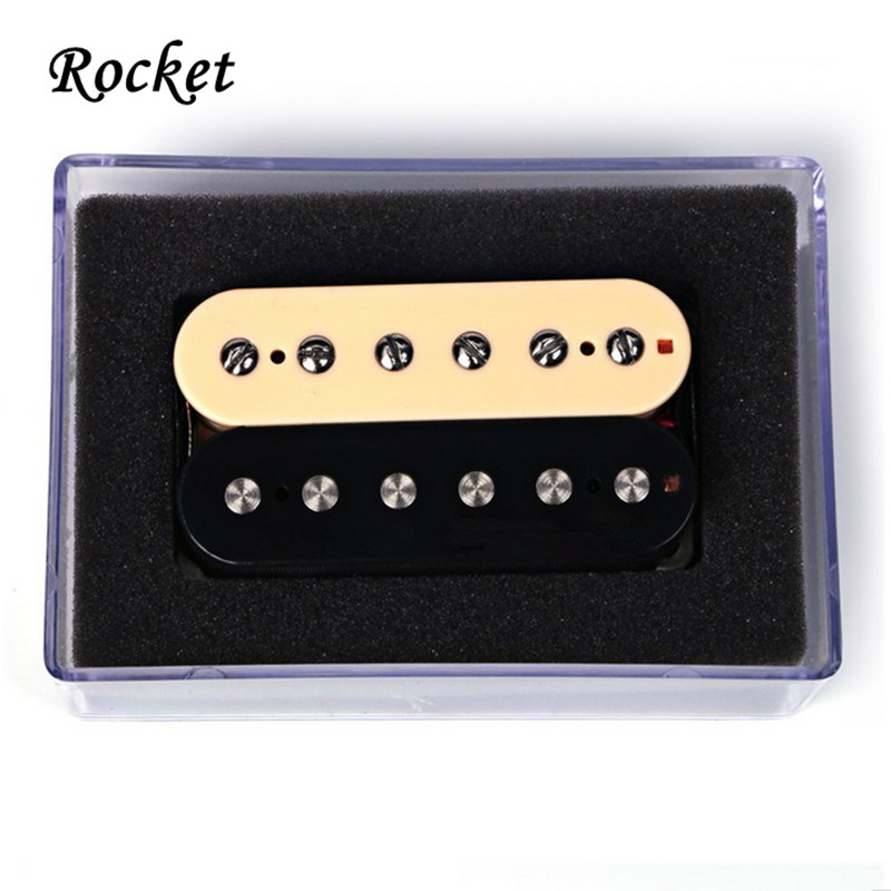 Rocket  1 Set'  Black with Yellow Humbucker Double Coil Electric Guitar Pickups -HS2+wholesale electric guitar pickup humbucker for 6 string 6 pieces double coil pickups set neck bridge pickup humbucker double coil