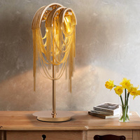 Post Modern Luxury Personality Time Tunnel Aluminum Chain Desk Lamp Nordic Creative Living Room Model Room