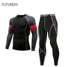 Mma rashguard long sleeve fitness T-shirt mens compression suit tights tooling brand set thermal underwea