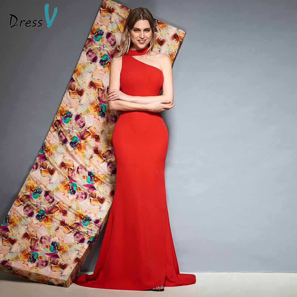 Dressv red sleeveless backless evening dress floor length flower mermaid wedding party formal dress trumpet evening dresses
