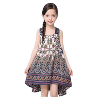 BRWCF 2017 New Brand Baby Girls Summer Dress Kids Print Dress For Party And Wedding Girls