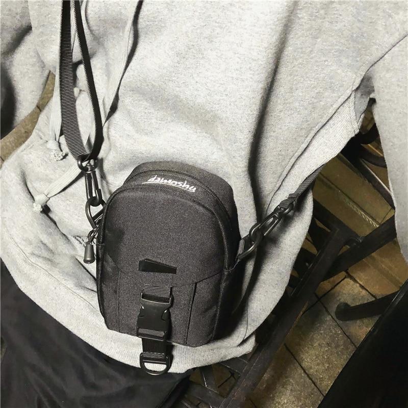 Satchel tide messenger bag canvas women simple Joker Korean mens hip hop shoulder bag small backpack