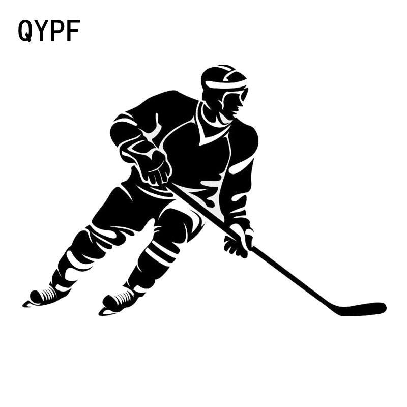 QYPF 19cm*12.3cm Creative Car Styling Ice Hockey Stylish Car Stickers S2-0438
