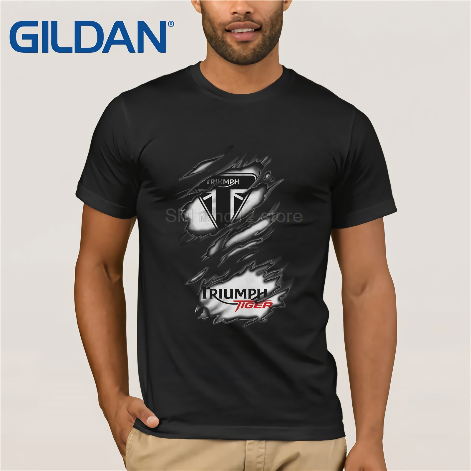 Gildan   t     shirt   2019 Fashion men   t  -  shirt   gildan RA TRIUMPH TIGER
