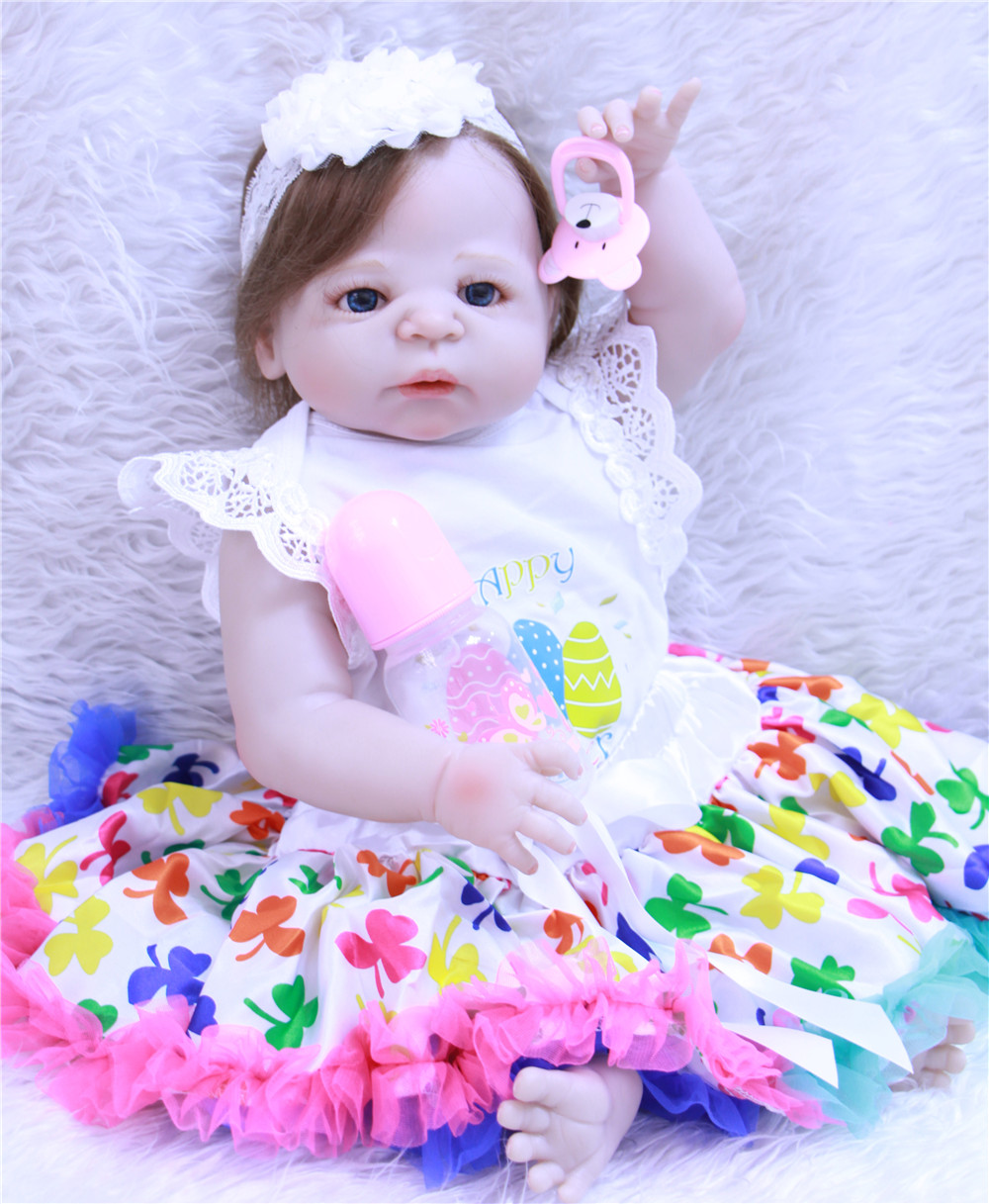 22 Inch Bebe Realistic Reborn Babies Girl Body Full