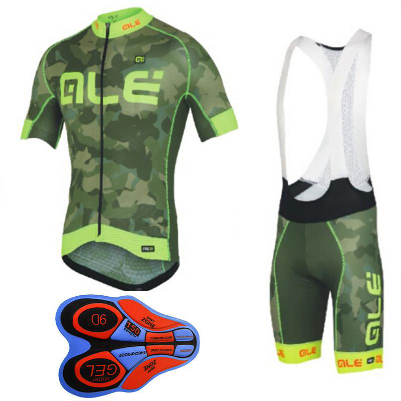 Custom Cycling Jersey ALE Quick-Dry Ropa Ciclismo Cycling Clothing Breathable Cycling Sportswear Cycling Clothing Set Army Green