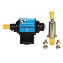 CarBole Mini Electric Fuel Pump Solid Petrol Pumps 12V 5/16 Inch 4-7 P.S.I. for  4,6 & 8 Cylinder Carburetor - 2 Wire Design 5pcs petrol snap in primer bulb fuel for chainsaws blowers trimmer carburetor