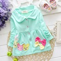Spring Autumn Baby Girls Children Kid's Long Sleeve Bow Cute Outwear Coat Jackets Cardigan S1990