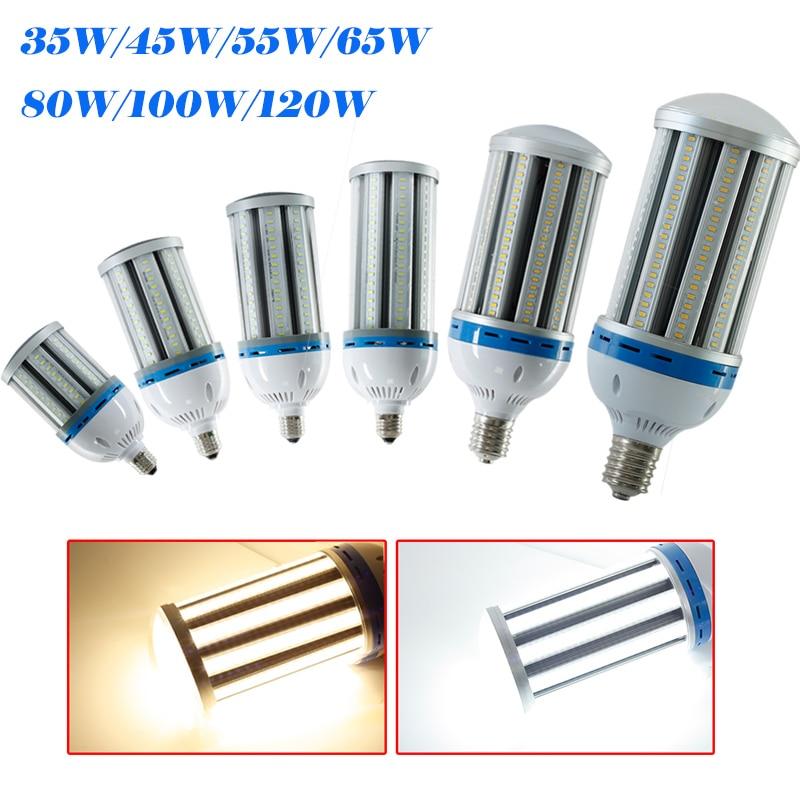Newest 35W/45W/55W/65W/80W/100W/120W E40 AC85-265V White/Warm White SMD5730 Corn Bulb LED Corn Light  LED Bubble Ball Bulb Lamps