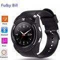 Marca v8 smart watch apoyo sim ranura para tarjeta tf bluetooth reloj 0.3 m cámara mtk6261d smart watch para ios android pk tw64, Kw88