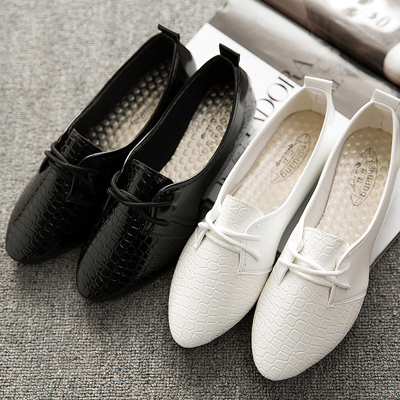 baja Oxford primavera zapatos en mujer pisos Pisos mujer mujeres de blanco boca ocasionales planos zapatos negro 35 Oxford las Tamaño Doug en 40 verano 2015 vUwaYHtq