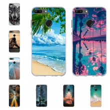 For Huawei Honor 9 Lite Cover Soft TPU AL00 AL10 TL10 Case Paris Tower Patterned Youth Shell