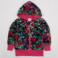 Фуксия дети толстовки детская одежда куртка молнии новый год Кофты для девочек-подростков детские спортивные костюмы дети одежда из хлопка