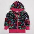 Fúcsia crianças hoodies crianças jaqueta desgaste zipper ano novo Camisolas para meninas adolescentes dos esportes do bebê se adapte às crianças roupas de algodão