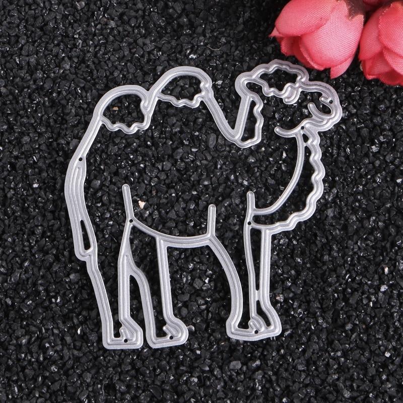 (OOTDTY) Kamel Tier Stanzformen Schablone DIY Scrapbook Album Prägekarte Papier Handwerk MAY02_30
