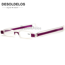 Upgraded 360 Degree Rotation Reading Glasses Ultraportability Mini Slim Folding Eyeglass Spectacles for Old Man Grandmother