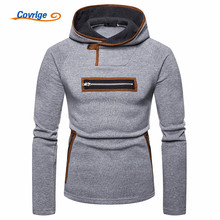 Covrlge Fashion Hoodies Men Ripped Zip Personality Sweatshirts Mens Hip Hop Slim Hooded Hoodie Pullovers Sweatshirt Men MWW138 недорого