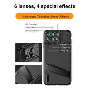 Image 5 - חדש עבור iPhone XS מקסימום Dual מצלמה עדשת 6 ב 1 Fisheye רחב זווית מאקרו עדשה עבור iPhone XS XR xs מקס טלסקופ זום עדשות + מקרה