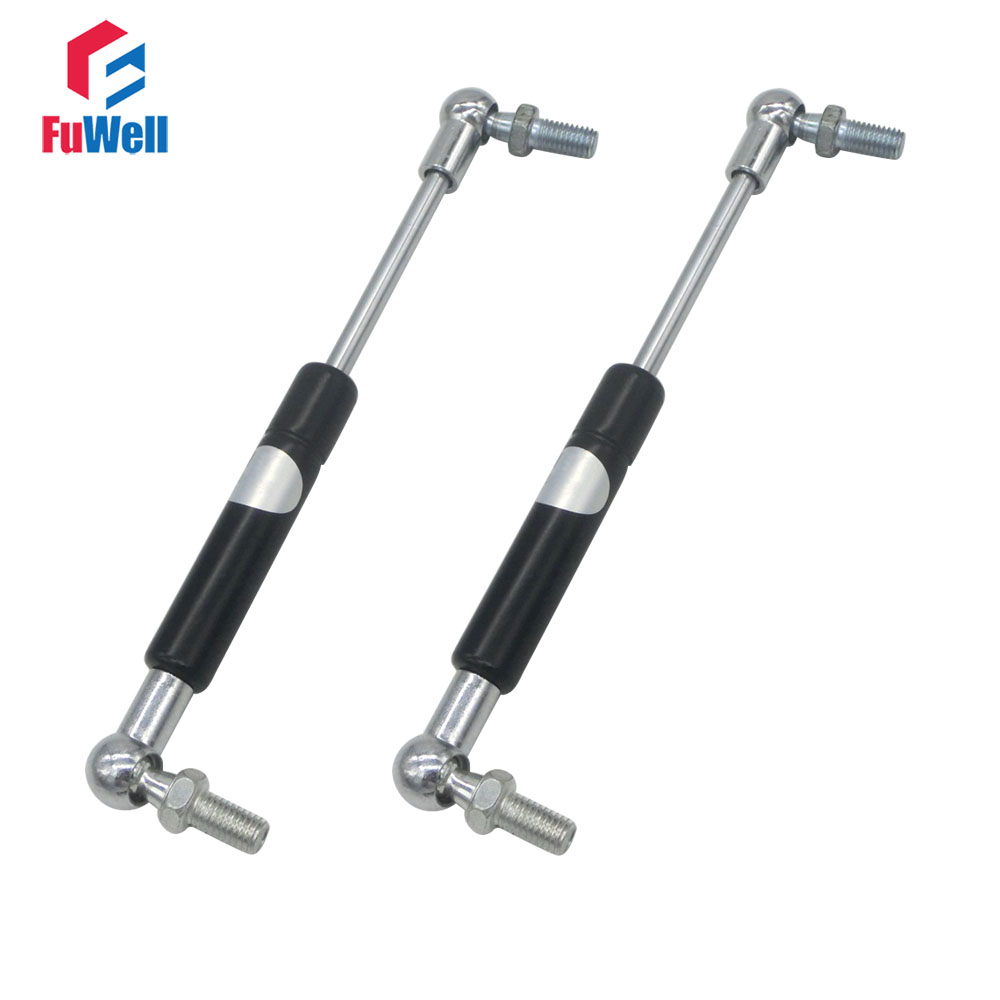 210x65x8Kg Gas Spring 210mm Hole Center 65mm Stroke Ball Joint Gas Strut Lift Prop 8KG Force Automotive M8 Auto Gas Spring 400mm hole center 90mm stroke auto gas spring 20kg force gas strut damper ball joint m8 gas strut shock spring lift
