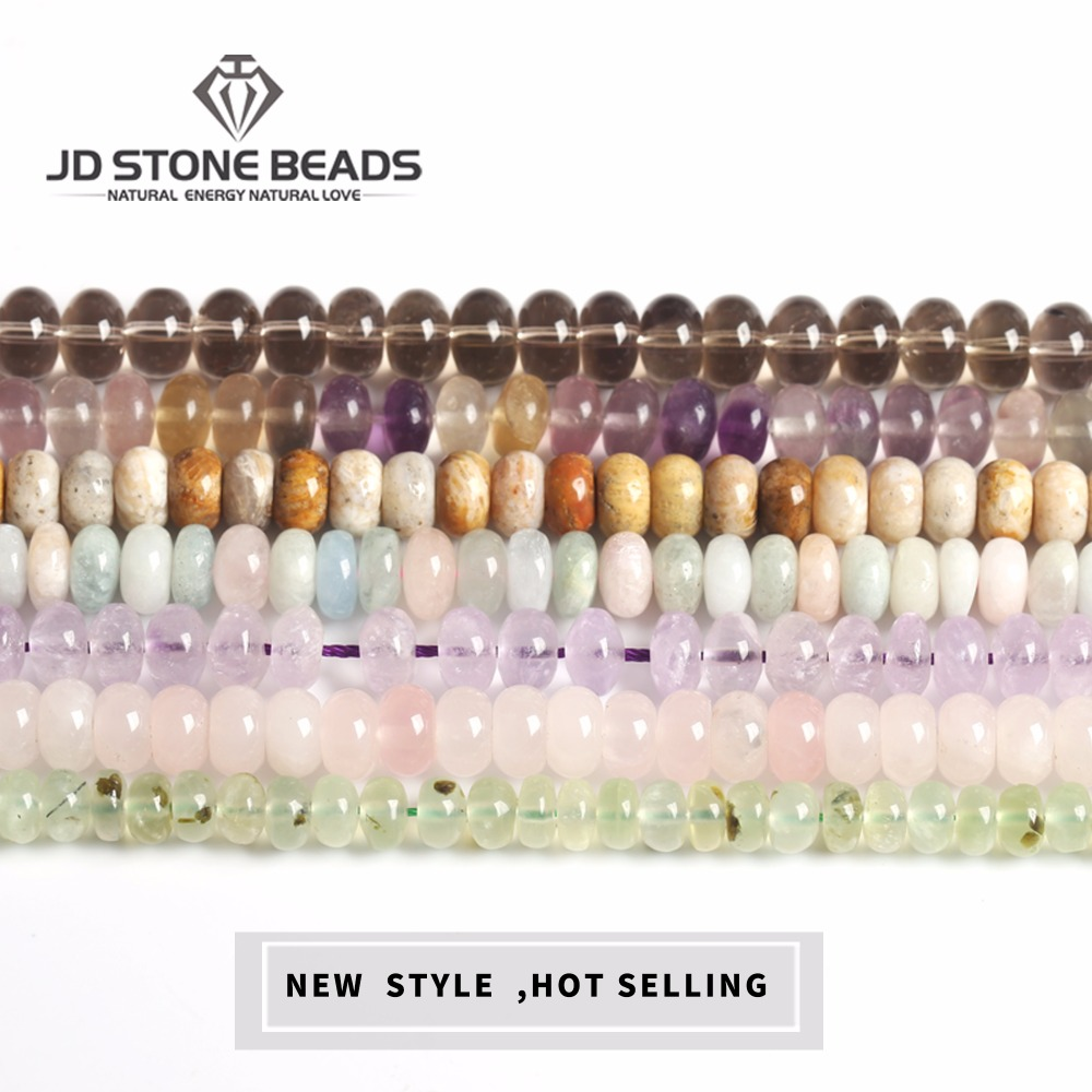 Wholesale Abacus Beads DIY Hand Made  Quartz Material New High Quality  Assorted  Natural Stone Wholesale  Abacus Beads