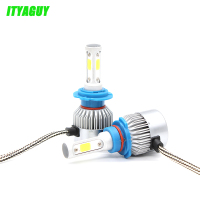 2pcs Lot Car LED Headlight Bulbs S3 H7 H8 H9 H11 H13 9005 9006 9004 H4