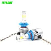 2pcs/lot Car LED headlight Bulbs S3 H7 H8 H9 H11 H13 9005 9006 9004 H4 H3 H1 880 881 front fog light LED Car Headlamp